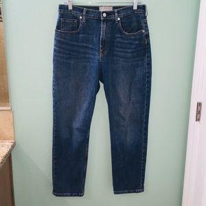 Everlane High Waist Straight Leg Blue Denim Jeans